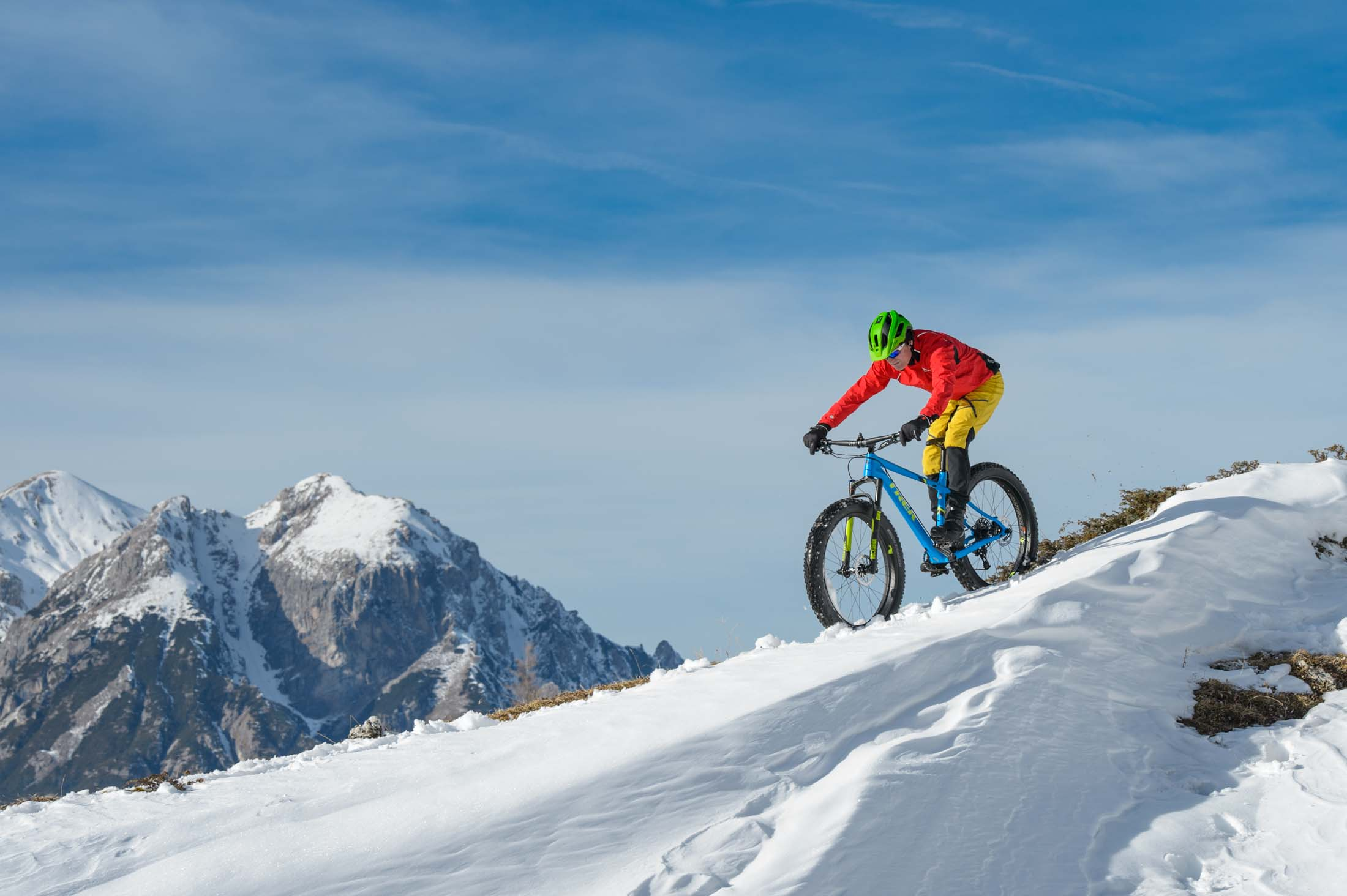 Fatbiken in de winter in Sud Tirol