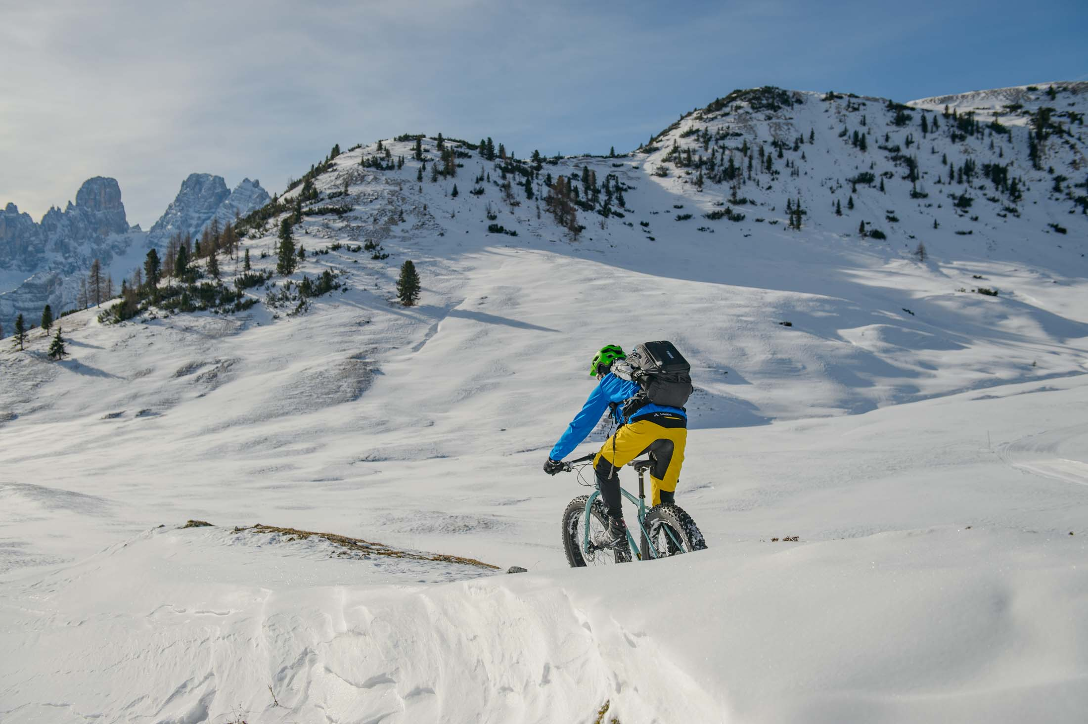 Eindeloos genieten in de sneeuw op je fatbike